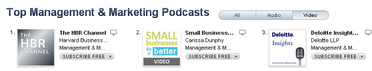 Small Businesses Do It Better Marketing and Management video podcast